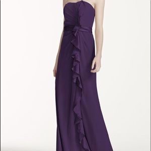 David's Bridal Style F14336 Size 8 In Slate/Gray